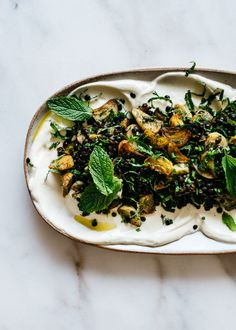 Roasted Golden Beets with Lentils, Soft Herbs, and Lemon-Saffron Yogurt — Fix Feast Flair