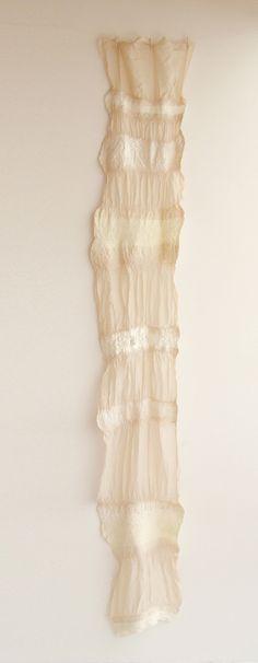 hand felted silk shawl