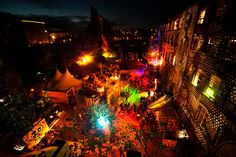 Berlin club, Kater Holzig by night, Berlin. #travel#night #summer #colourful