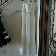 White halter dress Beautiful Halter top Wedding or prom dress Floor length Has a few small stains Jessica McClintock Dresses Prom