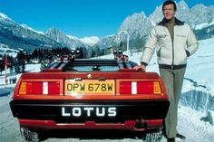 Roger Moore, looking typically dapper in impossible conditions!
