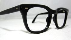 Vintage EyeGlasses Mens USS Frames. Black by CollectableSpectacle, $85.00