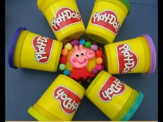 Play Doh Pepa Pig cupcakes for kids ♥ A Cupcake How to Make♥