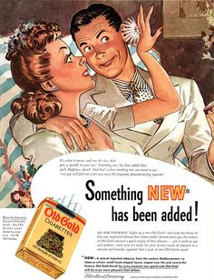 Something NEW has been added! Old Gold cigarettes 1941. #vintageads #Ads #vintage #PrintAd #tvads #advertising #BrandScience #influence #online #Facebook #submissions #marketing #advertising