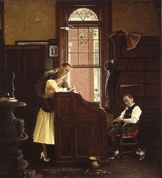 """Marriage Liscence"". Norman Rockwell"