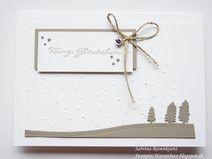 Weihnachtskarte Stampin up Kling, Glöckchen #stampinup #weihnachtskarte #kaufen  http://de.dawanda.com/shop/naturelove