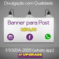 Nós elaboramos a arte da sua postagem! WhatsApp 11 99275-2003 ou 11 4321-2895.💪😃🕖🎯