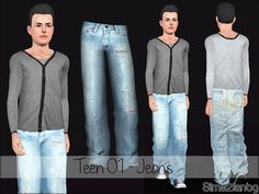 sims2fanbg's Teen 01 - Jeans