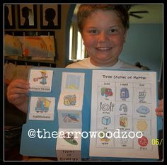 Oh we have another fabulous lapbook to show you all today! This one is from Kayla, at The Arrowood… Curriculum, Homeschool, Five In A Row, States Of Matter, Early Literacy, Show And Tell, Shovel, First Grade, Mike Milligan