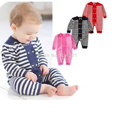 2014 Fall fashion baby girls /boy rompers infant brand jumpsuit 100%Cotton stripe overalls newborn Climbing clothes high quality $16.86