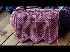 How to knit a Chevron or zigzag pattern. Knitting Stiches, Knitting Videos, Baby Knitting Patterns, Free Knitting, Knitting Projects, Crochet Stitches, Stitch Patterns, Knit Crochet, Chevron