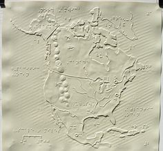 Map of North America from the Tactile Atlas for the Blind by the Princeton Braillists [1161×1080] : MapPorn