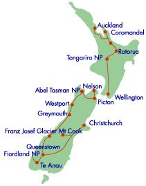 Wanderreise Neuseeland, u.a. Coromandel Halbinsel, Tongariro National Park - Sidetracks.de