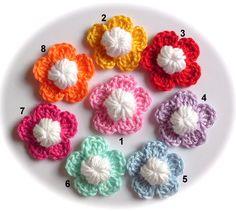 Weiteres - 1 gehäkelte Boutonniere Ansteckblume lapel flower - ein Designerstück von Ing-Indra bei DaWanda                                                                                                                                                                                 Mehr