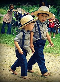 Amish boys and girls go to public schools where the students are all Amish. The