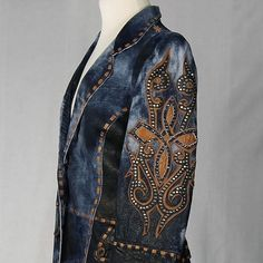 Corral Abstract Leather Coat at The Maverick Western Wear