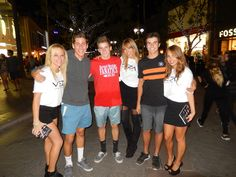 The #VezaGirls at the 3rd Street Promenade in Santa Monica with some Fans. www.vezabands.com