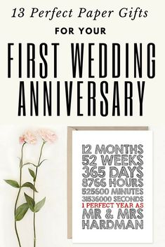 Wedding Anniversary 1st year Gifts | First Year Wedding Anniversary Gift Ideas for Him and Her