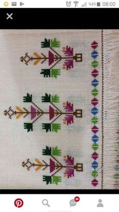 This Pin was discovered by Ber Embroidery Patterns Free, Cross Stitch Embroidery, Hand Embroidery, Embroidery Designs, Crochet Patterns, Cross Stitch Borders, Cross Stitch Patterns, Palestinian Embroidery, Bargello