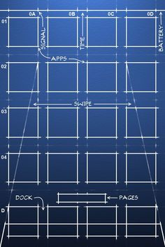 Blueprint iOS wallpaper