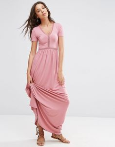 4441fc1e9da Image 4 of ASOS TALL Maxi Dress With Ladder Inserts Girls Shopping