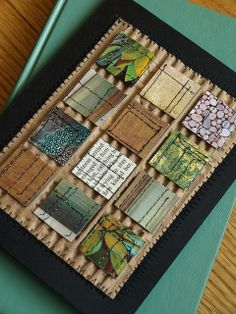 Inchie Card by Shanda Panda, via Flickr great use of corregated cardboard for masculine card