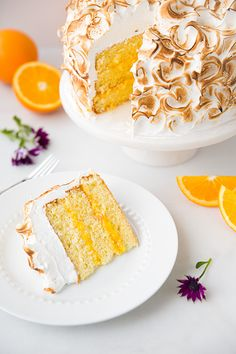 Orange Chiffon Cake with Orange Filling and Meringue | Cooking Classy