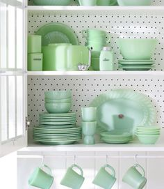1. Ball jug: Sold in limited quantities in the 1940s by Anchor Hocking, these pitchers are now the most coveted single pieces of Jadeite. Even damaged specimens (they're prone to stress cracks around the neck and handle) go for $150. Value: $400. 2. Ginger jar: This 3-inch canister by Jeannette Glass was part of a four-spice set that retailed for $4.25. Value: $145. 3. Water dispenser: This 1940s water chiller has a chrome spout that twists down to dispense water. The missing glass cover ...