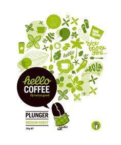 Hello Coffee by Jade Culton, via Behance