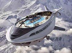 Futuristic air cruiseship