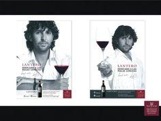 Campaña de publicidad para vino tinto Lantero.