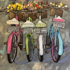 56 new Ideas vintage bike painting bicycle art Bicycle Painting, Bicycle Art, Bicycle Design, Paint By Number, Watercolor Art, Art Drawings, Art Projects, Canvas Art, Canvas Crafts