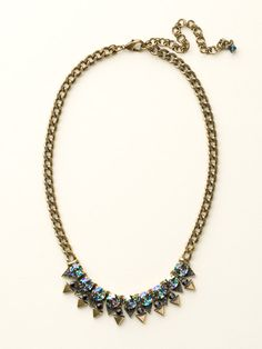 Crystal and Metal Spike Necklace in Dress Blues by Sorrelli - $145.00 (http://www.sorrelli.com/products/NCW18AGDBL)