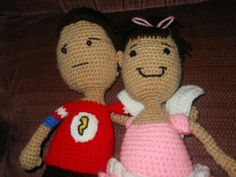 Sheldon doll, made by me pattern by A[Mi]Dorable Crochet. Tooth fairy doll by me, pattern by me. www.facebook.com/tiptoppershats