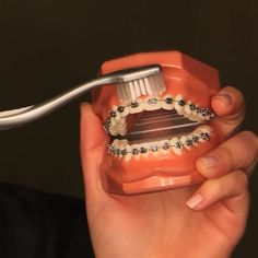 BRUSHING WITH BRACES can be a little tricky. Here's a quick review on the best way to do it!