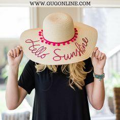 Hello Sunshine Floppy Straw Hat a28c88e165c4