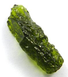 5.37GM Sparkle Chinese MOLDAVITE 12x33mm uneven rough pendant jewellery gemstone #Magicalcollection