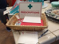 Prescriptions for Success, wonderful and cute way for people to leave their congratulations! Love it! I would totally have this!