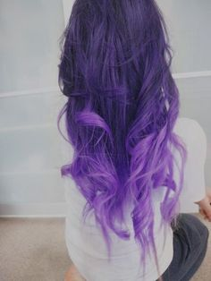 "ble purpleombre hair color | 18"", Ombre Hair Extensions//DipDye//Dark Brown Hair with dark to light ..."