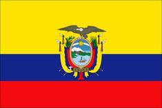 The flag of Ecuador has a yellow horizontal stripe on the top half and two stripes of blue and red on the bottom half. The coat of arms is in the center. Show your pride and display this miniature flag on a stick. Barcelona Ecuador, Ecuador Flag, Equador, Galapagos Islands, Gif Animé, Flags Of The World, National Flag, National Symbols, Quito