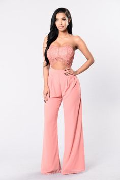 Come Take My Hand Jumpsuit - Rose