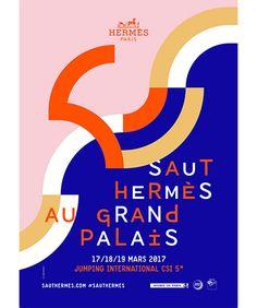 Hermès hosts the Saut Hermès at the Grand Palais Graphic Design Quotes, Graphic Design Layouts, Graphic Design Inspiration, Layout Design, Print Design, Design Art, Design Ideas, Dm Poster, Poster Layout