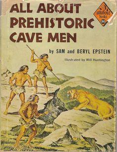 VINTAGE KIDS BOOK All About Prehistoric Cavemen by HazelCatkins, $35.00