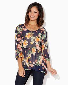 Liliana Flower Top | Fashion Apparel & Clothing | charming charlie