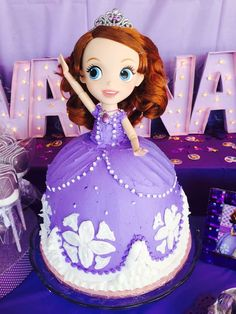 Sofia the First birthday party cake! See more party planning ideas at CatchMyParty.com!