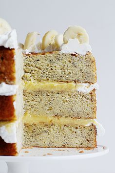 Homemade Banana Cake with Fresh Banana Curd!