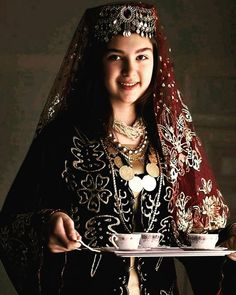 Beautiful Turkish Girl and Coffee