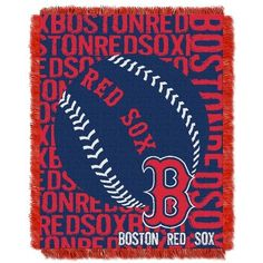 Boston Red Sox Bed Throw Blanket Bedding 48 x 60