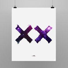 Poster Coesist - The XX.  55x66cm Shop: locomattive.com.br