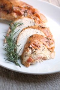 Rosemary Roasted Turkey. Going to try with thyme, garlic, and lemon in place of the rosemary.